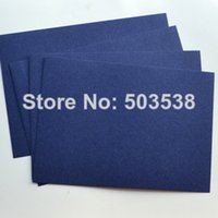 Wholesale Creating Cards - Wholesale- 100PCS LOT,Navy blue blank cards.Paper crafts.Handmade invitation cards,Create your own cards,15.5x10.8cm,Freeshipping.On stock