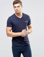 Wholesale Tee Shirt Red Collar - 2017 Famous Brand Stone T Shirt Fashion Men Island T Shirts Summer Spring Autumn Unisex V Neck Collar T Shirt Short Sleeve 1:1 Tees