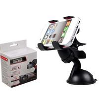 Wholesale Universal Gps Dashboard Mount - 30 PCS Universal 360° in Car Windscreen Dashboard Holder Mount Stand For iPhone Samsung GPS PDA Mobile Phone Black