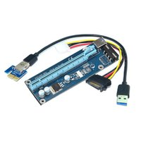 Wholesale Pci Express Cable Extension - PCI-E 1X to 16X extension conversion board PCI-e turn pcie adapter card 60cm cable pcie riser card for bitcoin miner DHL free shipping