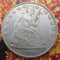 Wholesale Art Seat - High Quality Seated Liberty Half Dollar date 1859 copy coins Wholesale Hot selling High Quality old style Copy coin Free shipping
