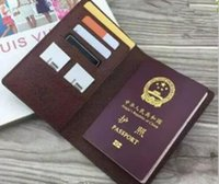 Wholesale travel passport online - Women leather passport cover brand credt card holder men business travel passport holder wallet covers for passports carteira masculina