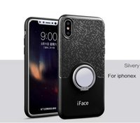 Wholesale Iface Mirror - iface new tpu 360 degree rotating mirror back cover phone shell case phone sets for iphone x 8 8plus 7 7plus 6 6s plus 5 5s samsung s8 s8plu