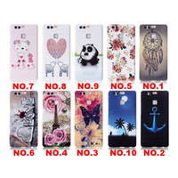 Wholesale Lg Phone Cases Covers - For iphone Samsung LG Sony TPU Marble Soft Smooth thin Back Cover Slim Crystal protect silicone landscape Painting embossed phone case