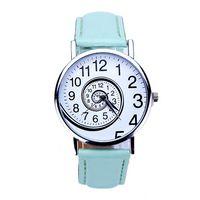 Wholesale Swirl Watch - Fashion Swirl Pattern Wristwatch Women's Sports Clock Watch Women Leather Analog Quartz-Watch Relogio Feminino Reloj Wholesale