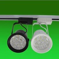 Wholesale 12w Led Track Light - Clothing Store LED Track Lights 12W 85-265V LED Spot Lighting Warm White White Light Color High Quality Track Lighting