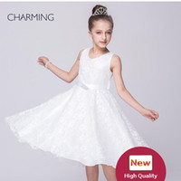 Wholesale Vneck Sleeveless Line Dress - white pageant dresses dresses party designer dresses Vneck sleeveless style Belts decoration Lace fabric best chinese wholesale suppliers