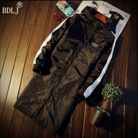 Wholesale Long Sections Trench Coats - Wholesale- BDLJ 2017 Men Jacket Coat Long Section Fashion Trench Coat Masculina Veste Homme Brand Casual Fit Outerwear 5XL