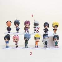 Wholesale Q Models - Naruto Q Edition Anime Action Figures Collection PVC Naruto Figures Model toy Set Action Figure Toys 6pcs set