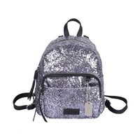 Wholesale Personalized Girls Bag - Wholesale- Fashion sequins Backpack Portable mini bags Ladies leisure backpacks Lovely little girl Backpack women Personalized small bag