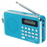 Wholesale sound card usb input - Hot sale Portable T205 FM Radio MP3 Player Mini Music Speaker Multifunctional Sound Box Support TF SD Card USB AUX Audio Input