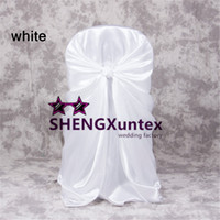 Wholesale Self Tie Satin Chair Cover - Satin self Tie Chair Cover For Wedding   Universal Chair Cover
