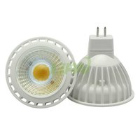 gu10 mr16 led Spotlight dimmable 5W 7W COB AC110-240V + 12v High Power Led cob Лампочки Nature White 4000K 60angle