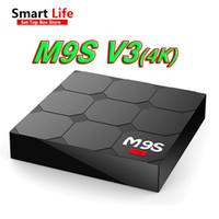 Wholesale Tv Hdmi Sale - Factory Sale M9S V3 Smart Android 6.0 TV Box Rockchip RK3229 Quad Core Google Set Top Box Fully Loaded KD17.3 OTT Box