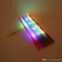 palo de plástico intermitente al por mayor-Luz de LED Fluorescente Stick Plastic Flash Colorful monocromática Sticks Creative Durable Emisión de varilla para la fiesta de baile concierto 1 15sc KK