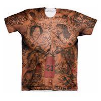 ingrosso tatuaggio della camicia delle donne-All'ingrosso-JR Smith Tatuaggi T-Shirt Uomo Donna Hipster 3D t shirt Vintage Indian Tribe Tattoo Stampe magliette Swag Harajuku Tee Shirt Tees