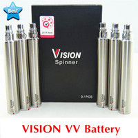Wholesale Vapor Cig Charger - 510 Vape Pen Vision Spinner 1 + eGo USB Charger Variable Voltage VV battery eGo Twist E Cig Battery 1300 1100 900 650 mAh Vapor
