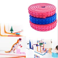 Wholesale 1M x126 Dots Small Nimuno Loops Plastic Tape Blocks Base Plate Building Blocks DIY Baseplate With Sticky Backing b812