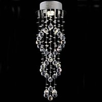 Wholesale Chandeliers For Staircase - Modern chandeliers blown glass chandelier lights chandeliers lighting Spiral Drop crystal chandeliers Stair Lights for Staircase