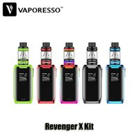 Wholesale X Mini Green - 100% Original Vaporesso Revenger X Kit VW TC 220W Dual 18650 Battery Box Mod 2 5ml NRG Mini Tank Atomizer