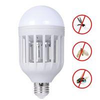 Wholesale Mosquito Night Light - Mosquito Killer LED Bulb 220V 15W LED Bug Zapper Lamp E27 Insect Mosquito Repeller Night Lighting Killing Fly Bug Night Light