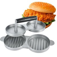 Wholesale Hamburger Tool - Aluminum Burger Press Hamburger Maker Non Stick Cakes Patty Mold for BBQ Grill Accessories DIY Home Kitchen Tool