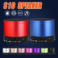 Wholesale Portable Box Speakers - S10 Bluetooth Speaker Outdoor Speakers Handfree Mic Stereo Portable Speakers TF Card Call Function DHL Free Shipping No Logo In Retail Box