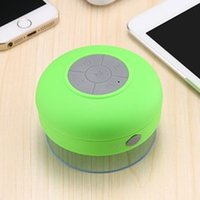 Wholesale audio wireless microphone - 2017 New Bluetooth Speaker Wireless Waterproof Music Player with Sucker Built-in microphone HIFI Subwoofer Audio For Car Bathroom