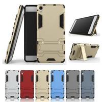 Wholesale E5 Phones - Phone Case for Sony Xperia XA XA XZ Z5 Premiun X Performance E5 PC+TPU protector cover armor defender shell Iron Man design cases GSZ355