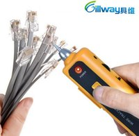 Wholesale rj45 cat6 wiring - DHL free High Quality RJ11 RJ45 Cat5 Cat6 Telephone Wire Tracker Tracer Toner Ethernet LAN Network Cable Tester Detector Line Finder