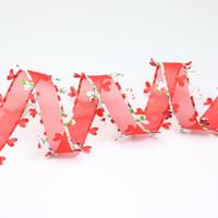 ткань кружевное сердце оптовых-Ширина 15 мм ремесло ткань ленты сердце кружева печатных органзы ленты для DIY головные уборы свадьба праздничное событие украшения подарочная упаковка zd138
