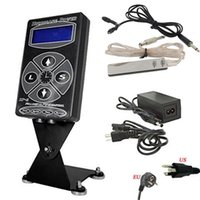 Wholesale Hurricane Power Supply Foot - Wholesale- Pro Tattoo Kits Set 1pcs Hurricane HP-2 Dual Digital LCD Tattoo Power Supply w  1pcs Clip Cord & 1pcs Foot Pedal Free Shipping