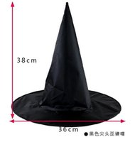 Festival Adulti bambini Halloween Black Witch Cappello Oxford Costume Partito Props cappelli Festival Decoration Costume vampiri berretti