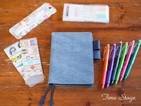 Wholesale Notepad Designs - Wholesale- 2017 time stage design DIY A6 a5 notebook stationery diary billbook hobonichi style hobo cover notebook egg blue limit