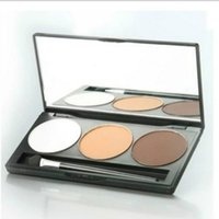 Wholesale Beauty Salon Wear - 50pcs Salon Professional Matte Eyeshadow Palette 3 Colors Smokey Eye Shadow Makeup Kit Women Beauty Cosmetic Maquiagem