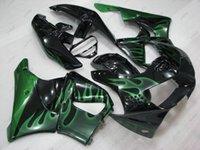 99 honda cbr großhandel-Verkleidungskits für Honda Cbr919RR 98 Kunststoffverkleidungen CBR 919RR 99 Schwarz-grüne Flammenkörper-Kits CBR919RR 1998 1998 - 1999