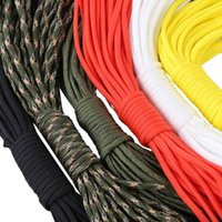 Wholesale Outdoor Cords - 10M 7 Core Paracord String 33FT Camping Hiking Rope Parachute Cord Lanyard Rope Mil Spec Type Outdoor Survival Tool 6 Colors +B