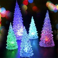 LED Weihnachtsbaum Licht blinkende Acyllic Kristall Weihnachtsbaum Nightlight Lampe Outdoor Indoor Weihnachtsdekoration Ornamente Lichter