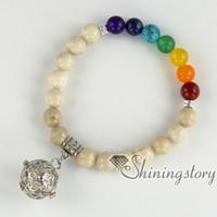 Wholesale Balance Oil - chakra bracelet seven chakra balancing jewelry essential oil bracelet aromatherapy jewelry meditation jewelry birthstone bracelets