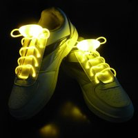 2017 New Arrival Light Up LED Shoelaces Fashion Flash Disco Party Glowing Night Sports Chaussures Chaussures Cordes Chaussures Multicolors