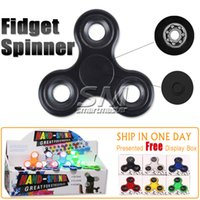 Big Kids sports gifts desks - 2017 New Fidget Spinner Desk Anti Stress Finger Spin Spinning Top EDC Sensory Toy Cube Gift for Children Kid With retail pack