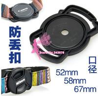 tampas de lente 67mm venda por atacado-Atacado-Camera Lens Cap Holder Keeper Para Lens Cap 52mm / 58mm / 67mm Universal