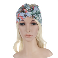 Wholesale Wholesale Turban Printed - 4 colors Hair Accesorries Headbands for Women Head band Girl Hairbands Floral Blooms Print Cotton fabric Hair Band Elastic Cross Turban