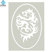 Wholesale Tattoo Dragons Designs - Wholesale-OPHIR Dragon Design Airbrush Stencil for Temporary Tattoo Body Paint_STE005B