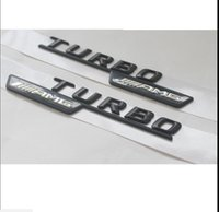 "Wholesale Letters For Doors - Black "" TURBO    AMG "" Letters Trunk Emblem Badge Sticker for Mercedes-Benz AMG"
