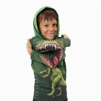Wholesale Dinosaur Tracksuit - Baby Dinosaur Coat Kids Clothes Boys Spring Fall Clothing 2017 Designer Jackets Green Tracksuits Fashion Outwear