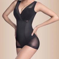Wholesale Wholesale Women S Bodysuits - Wholesale- Women Firm Tummy Control Full Dress Slip Body Shaper Underbust Shapewear New