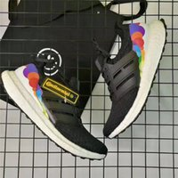 Wholesale Black Rainbow Pride - Newest Ultra Boost 3.0 LGBT Pride Black Running Shoes Rainbow CP9632 Original Quality Real Boost UB 3.0 Top Quality Limited Release