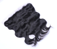 Wholesale Virgin Remy Body Wave Bulk - Brazilian Mongolian Malaysian Peruvian Indian 13*4 Body Wave Lace Frontal Human Virgin Remy Full Head Unprocessed Hair Extensions