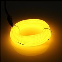Wholesale Led Glow Clothes - LED Neon Lights EL Wire Rope tape ribbon Flexible Neon Light Glow Cable Strip Shoes Clothing Car waterproof led strip New lamp